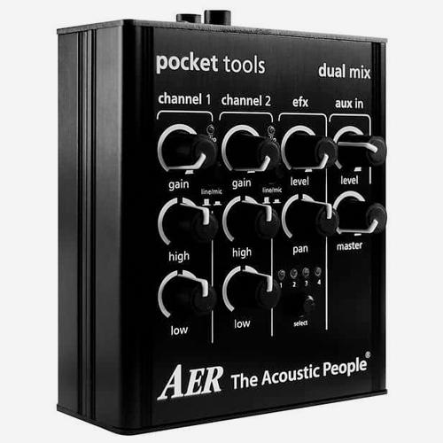 AER Pocket tools 어쿠스틱 프리앰프 이펙터DUAL MIX2